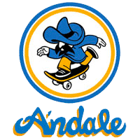 logo andale bearings bleu et jaune