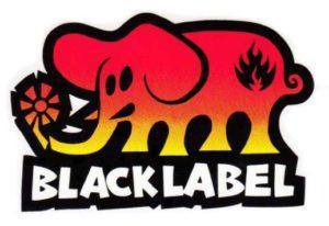 logo black label elephant noir rouge jaune
