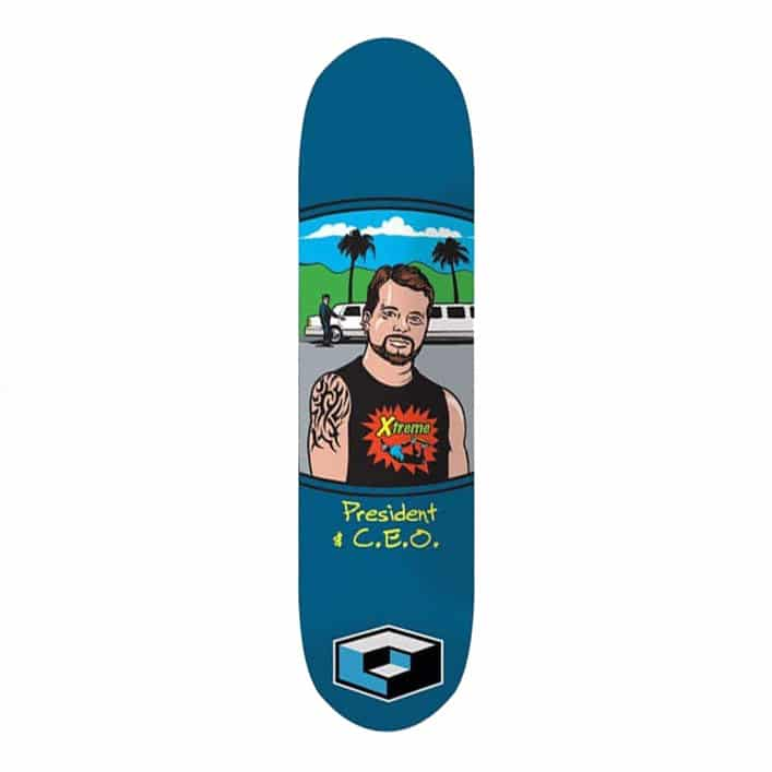 """Consolidated """"President"""" skate deck 8.3"""""""