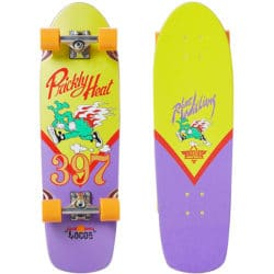 Skate Cruiser complet Dusters California Williams Prickly Heat 31. Série Robert Williams x California Locos couleur jaune / violet