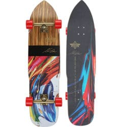 Longboard complet Dusters California Steve Olson Collaboration Series taille 94cm avec roues Kryptonics rouges