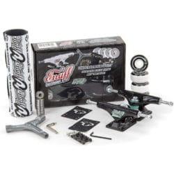 Kit complet Enuff d'équipement planche de skateboard (Trucks + Roues + Visserie + Roulements + Pads + Grip + Outil)