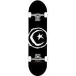 Skate complet Foundation Skateboards Stars & Moon noir et blanc en taille deck 8.0″