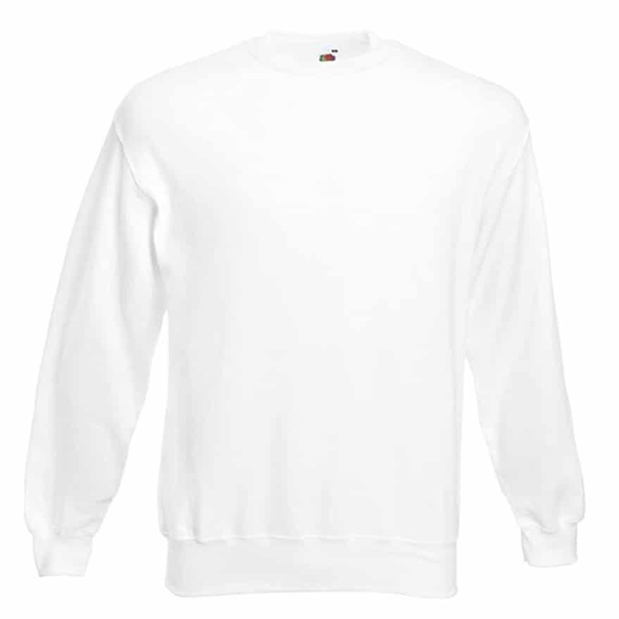Sweat shirt classique Fruit of the Loom SS200 couleur Blanc