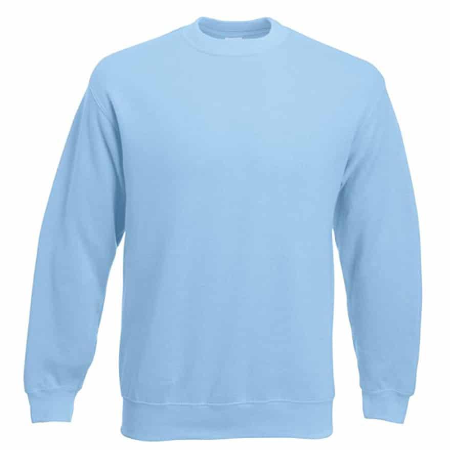 Sweat shirt classique Fruit of the Loom SS200 couleur bleu ciel