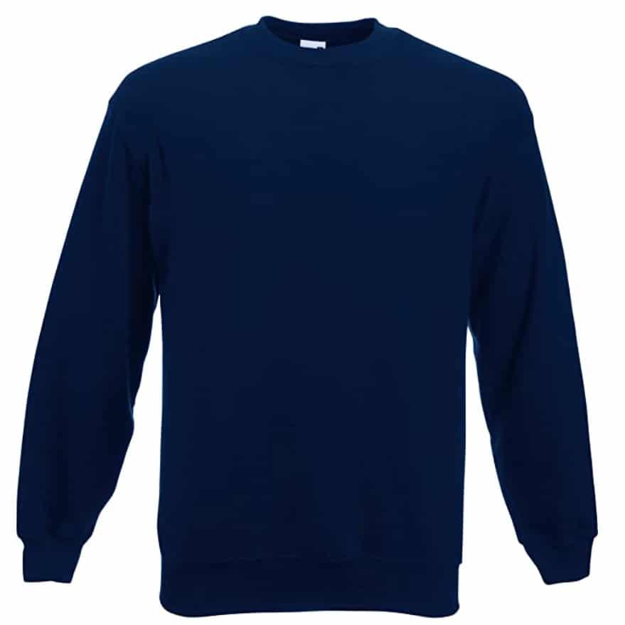 Sweat shirt classique Fruit of the Loom SS200 couleur bleu-marine