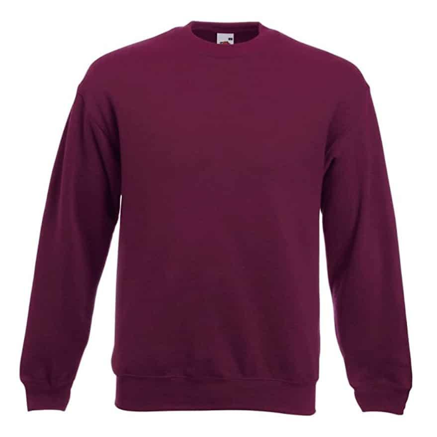 Sweat shirt classique Fruit of the Loom SS200 couleur bordeaux