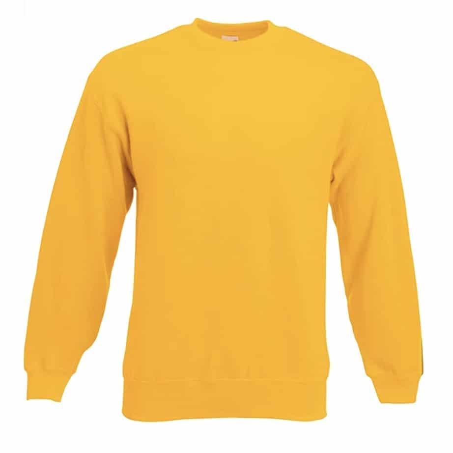 Sweat shirt classique Fruit of the Loom SS200 couleur jaune