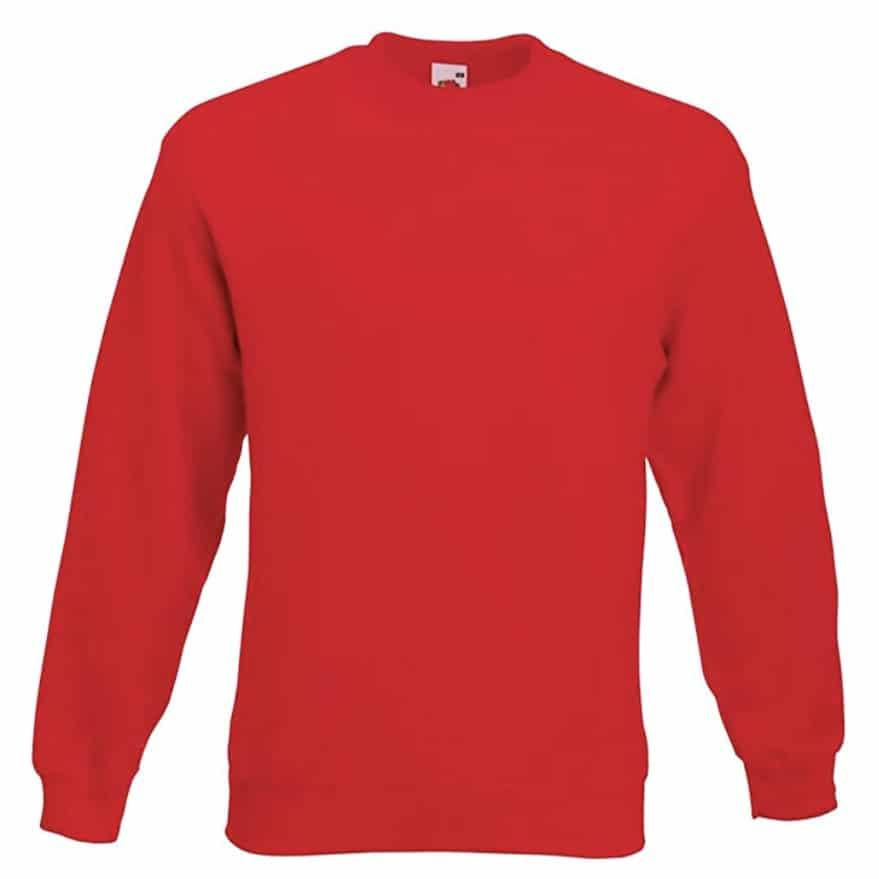 Sweat shirt classique Fruit of the Loom SS200 couleur rouge