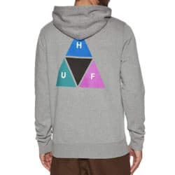 Sweat à capuche HUF Prism Triangle couleur gris (Grey Heather) back