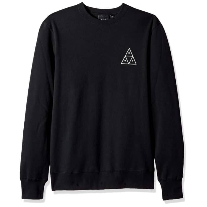 Sweatshirt HUF Triple Triangle couleur noir (black)
