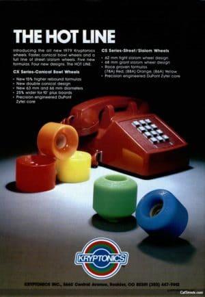 Kryptonics wheels ads 1979