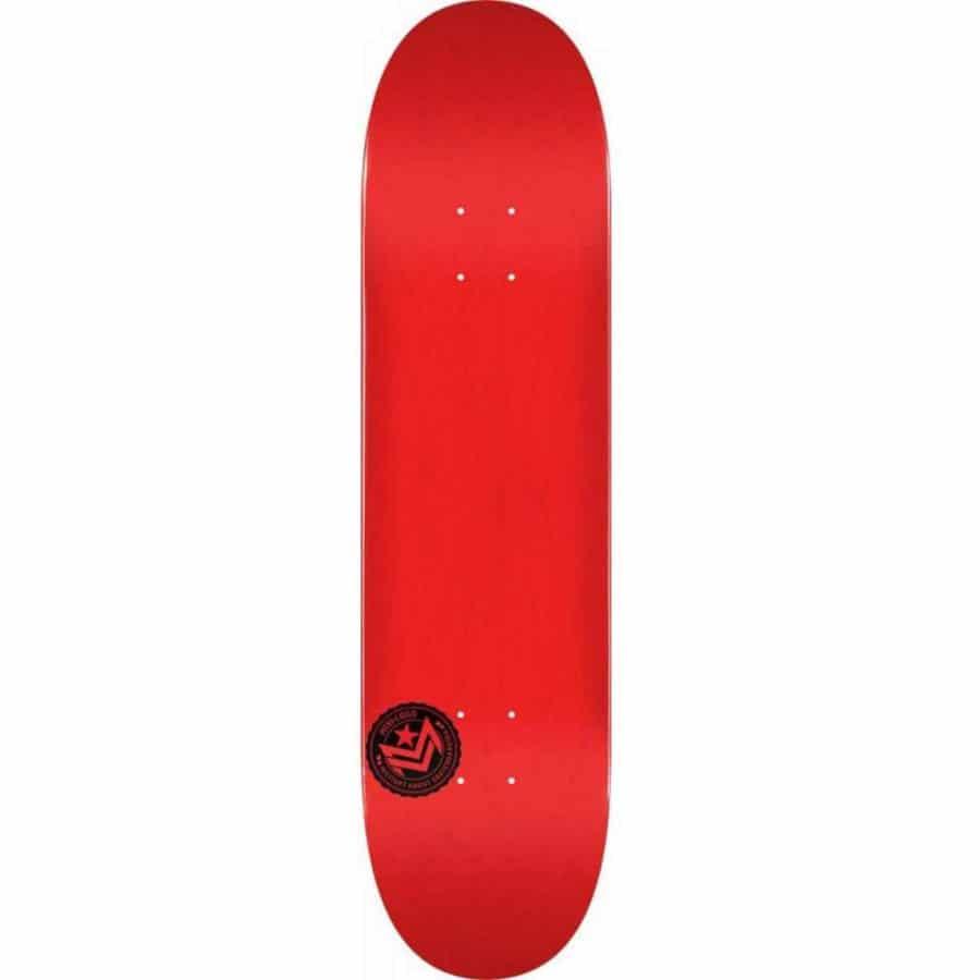 """Planche de Skateboard Mini Logo Chevron Stamp #124 de couleur rouge en taille deck 7.5"""" x 31.5"""""""