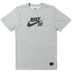 T-shirt Nike SB Dri-Fit gris et logo noir pour homme