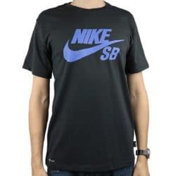 T-shirt Nike SB Dri-Fit noir / Violet pour homme