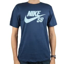 T-shirt Nike SB Logo couleur bleu pour homme
