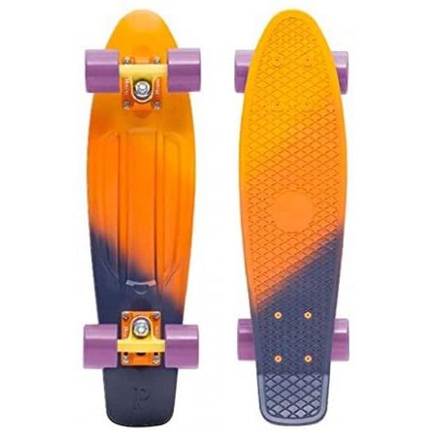 "Skate Cruiser Penny Dusk Yellow Orange Purple 22"""