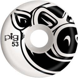 """Jeu de 4 Roues de skateboard Pig Wheels """"3D Conical"""" taille 53 mm, dureté 101a"""