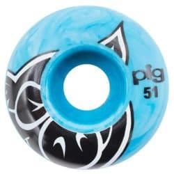 Jeu de 4 Roues Pig Wheels Head taille 51mm couleur Bleu