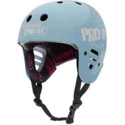 Casque de Skateboard haute qualité Pro-Tec Helmet Full Cut Cert Gonz 2, pro-model Mark Gonzales en couleur bleu clair (Light Blue)