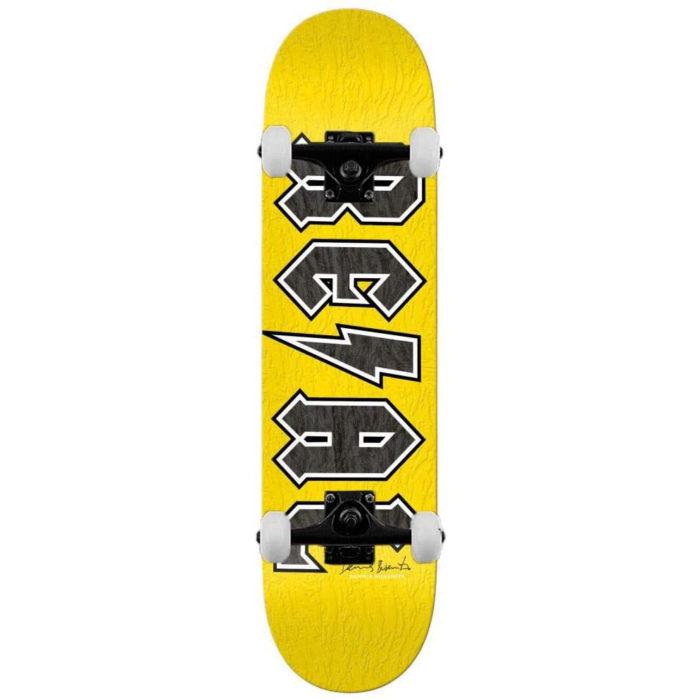 "Skate complet Real skateboards Busenitz Deeds Signature, pro-model Dennis Busenitz, couleur jaune en taille deck 8.25"" x 32.2"""