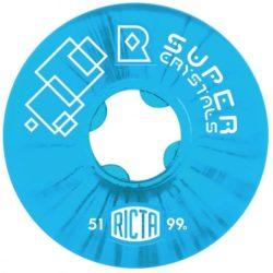 Roues de skate Ricta Wheels Super Crystal 51mm blue et dureté 99a
