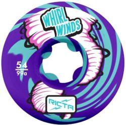 Roues de skateboard Ricta Wheels Whirlwinds Swirl taille 54 mm, dureté 99a, couleur: Violet /Bleu Sarcelle.