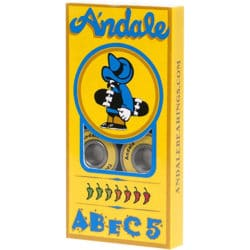 Jeu de 8 roulements de skateboard Andale Abec 5