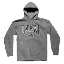 Sweat à capuche Lakai Varsity gris