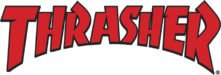 logo thrasher rouge