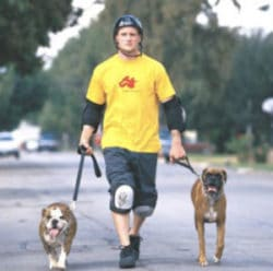 Mike Vallely and dogs for TSG