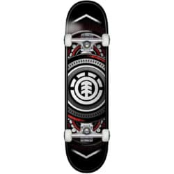 "Skate complet Element Hatched Red Silver 7.5"""