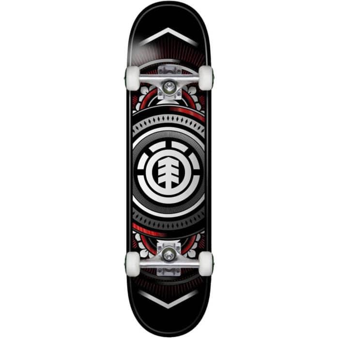 """Skateboard complet Element Hatched Red Silver en taille deck 7.5"""""""