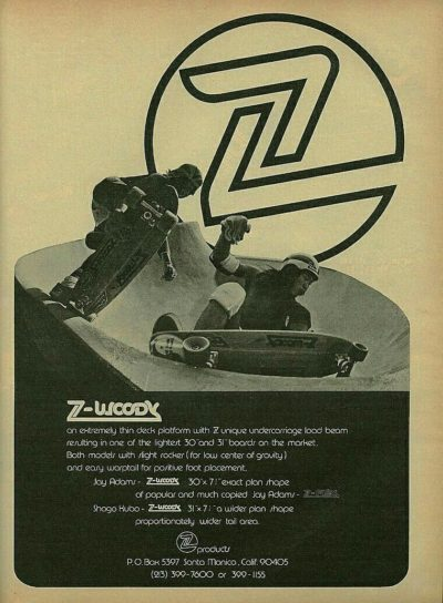 Z Flex vintage ads