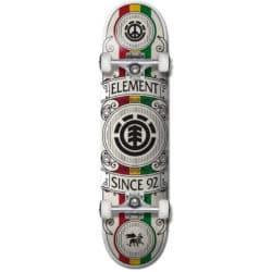 Skateboard complet noir Element Regal Rasta en taille deck 8.0″ et roues 52mm