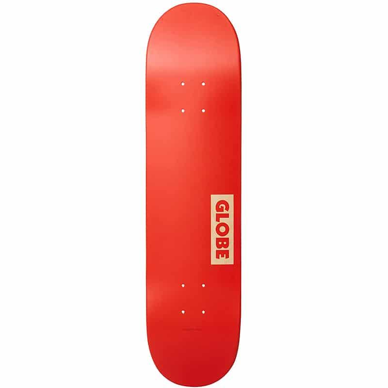 "Planche de skate Globe Goodstock rouge en taille deck 7.75"""