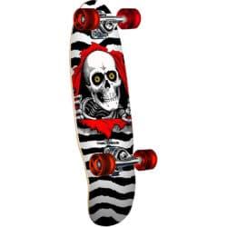"""Skateboard mini cruiser complet Powell Peralta Mini Ripper en forme old school et taille deck 7.5"""" idéal pour débutants"""