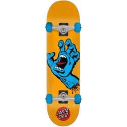 Skateboard complet Santa Cruz Screaming Hand orange en taille deck 7.5″et roues 53mm
