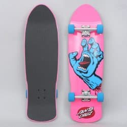 skateboard complet santa cruz hand cruiser rose