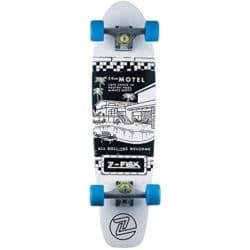 Skateboard Cruiser complet Z Flex LBC couleur Motel Pool White Blue