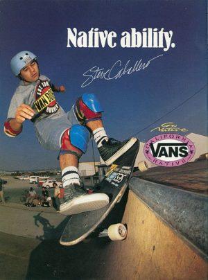 Steve Caballero Vans ads 1989