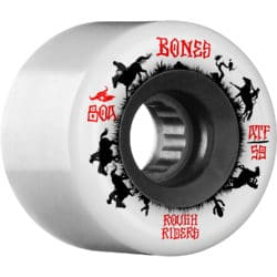 Roues de Skateboard Bones ATF Rough Riders blanches 59mm / 80a