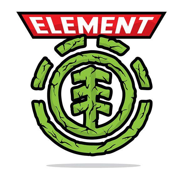 Logo element vert plante
