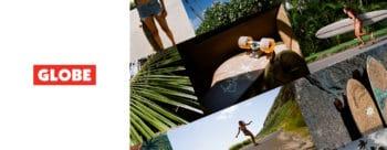 Globe longboard surf ads