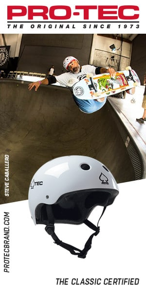 Caballero pro tec helmet ads