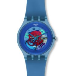 Montre Swatch Blue Grey Lacquered