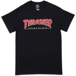 T-shirt Thrasher Outlined noir