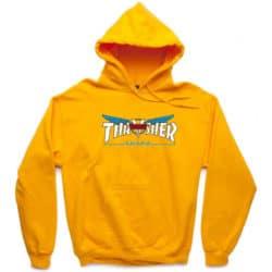 Sweat à capuche Thrasher x Venture jaune