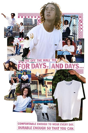 T-shirt Vans off the wall Rowan Zorilla ads