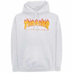 Sweat à capuche Thrasher Flame blanc